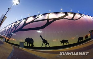 Night landscape of Africa Joint Pavilion