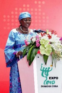 Ms Mariama delivered a speech in Niger Pavilion Day