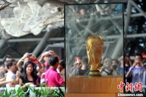The World Cup visited Spanish Pavilion